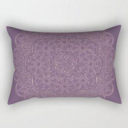Gold/Rose Gold Mandala on Lavender background Rectangular Pillow