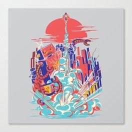 Smash! Zap!! Zooom!! - Generic Spacecraft Canvas Print