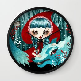 Red of the Woods Wall Clock