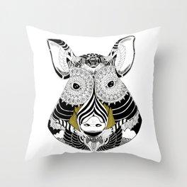 Cul Noir Throw Pillow