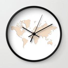 World with no Borders - blush Wall Clock