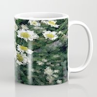 pushing daisies Mugs featuring Pushing Daisies  by Little Krampus