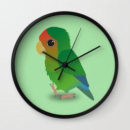 Cute peach faced lovebird Wall Clock