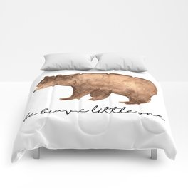 Be Brave Little One - Bear Watercolor Comforters