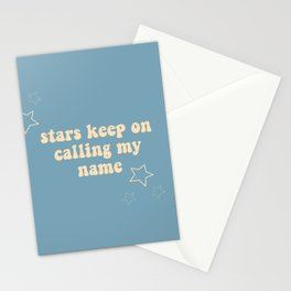 stars calling my name Stationery Cards