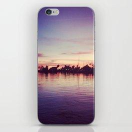 santa barbara harbor sunset  iPhone Skin