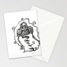 Skull with a Renaissance Spacehelmet Stationery Cards