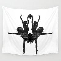 rorschach Wall Tapestries featuring Rorschach Ballerina by Rem N