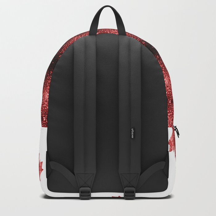 Canada flag red sparkles Backpack