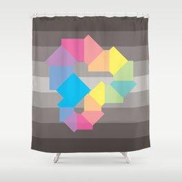 Square Spectrum (Rainbow) Shower Curtain