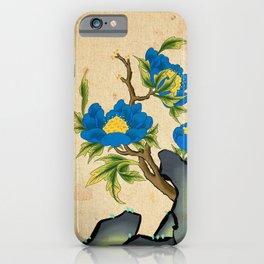 Minhwa: Peony on the Rock B Type (Korean traditional/folk art) iPhone Case