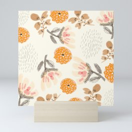 Modern Vintage Orange Blossoms Mini Art Print