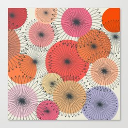 Spiral Flowers Canvas Print