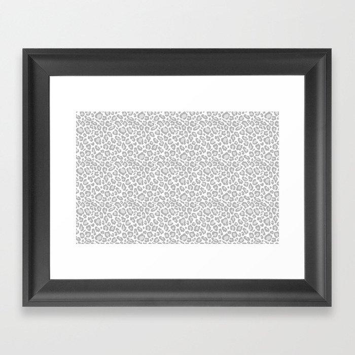 Grey Leopard Print Gerahmter Kunstdruck