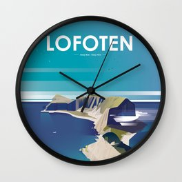 Alone In Nature - Deep Blue Deep View Wall Clock