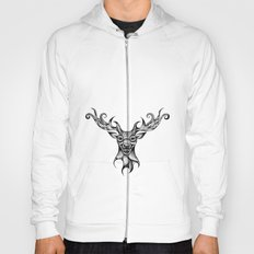 Henna Inspired Stag Head by Ashley-Rose Standish Hoody