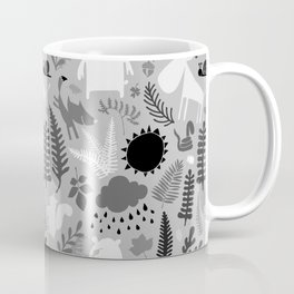 PNW Forest in Black + Gray + White Coffee Mug