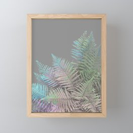 Rainbow Fern on Grey #decor #buyart #foliage Framed Mini Art Print