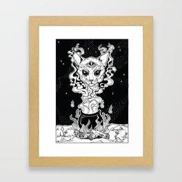 Ocult Cat Gerahmter Kunstdruck