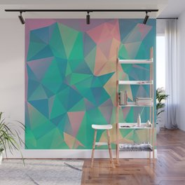 Fractured, Colorful Triangles Geometric Shapes Wall Mural