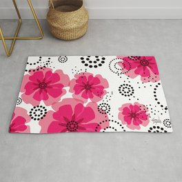 PEPPER POPPIES | fuschia Rug