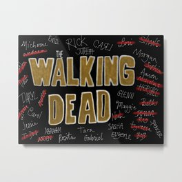 We Are The Walking Dead Metal Print