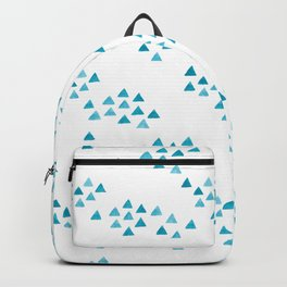 Minimalist Watercolor triangles Backpack