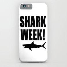 Shark week (on white) iPhone 6s Slim Case