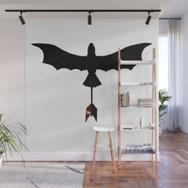 Black Toothless Wall Mural