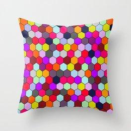 Sweet Honey Hexacomb Throw Pillow