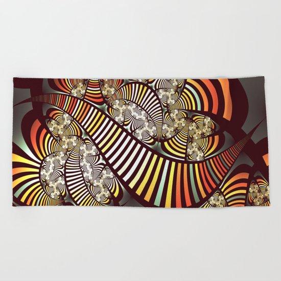 Vintage fractal 1 Beach Towel