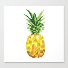 Pineapple Abstract Triangular  Canvas Print