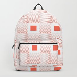 Rachel's Wavy Coral Pattern Backpack