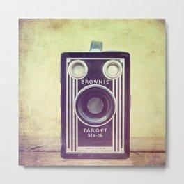 Vintage Camera Love: Cross-Processed Kodak Brownie Target Six-16! Metal Print
