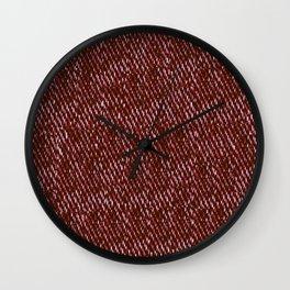 red denim Wall Clock