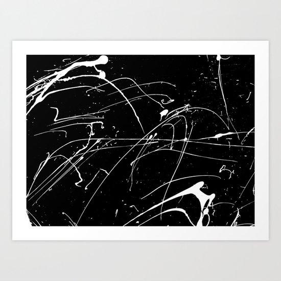 MONOCHROME SPLATTER #2 Art Print