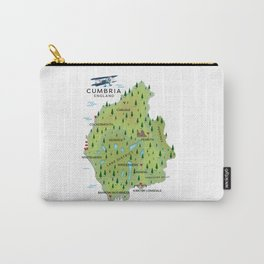 Cumbria England Map Carry-All Pouch
