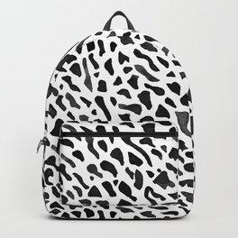 Fan Coral Pattern - Black Backpack