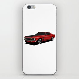 Mustang Boss Red iPhone Skin