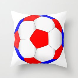Red White And Blue Football Throw Pillow
