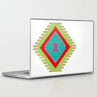 kilim Laptop & iPad Skins featuring Persian Kilim  - Plain Background by Katayoon Photography