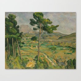 """Paul Cezanne """"Mountain Sainte-Victoire and the Viaduct of the Arc River Valley"""" Canvas Print"""