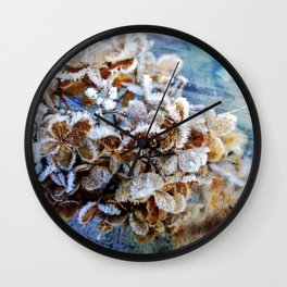 Frozen Poetry Wall Clock