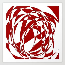 Abstract doodle Art Print