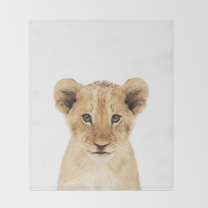 Lion Cub Throw Blanket