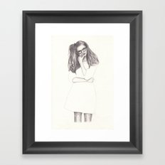 No.4 Fashion Illustration Series Framed Art Print