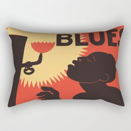 Retro The Weary Blues (music) Rectangular Pillow