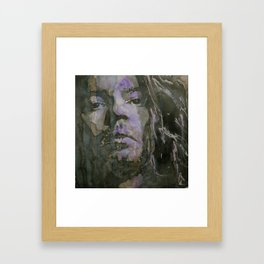 Never Tear Us Apart  Michael Hutchence Framed Art Print