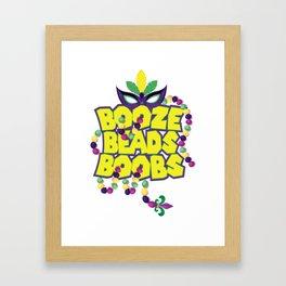 Mardi Gras Parade 2019 Beads Party Shirt Gift Idea Dark Light Framed Art Print