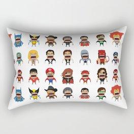 Screaming Heroes Rectangular Pillow